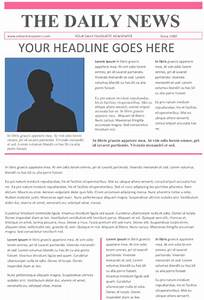 newspaper template microsoft word With microsoft kb article template