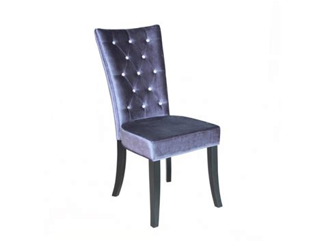 radiance silver velvet dining chair with diamantes