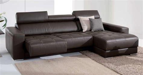 canapé avec méridienne selena assises coulissantes et méridienne sur univers du cuir
