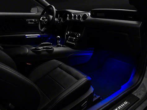 raxiom mustang led footwell lighting kit blue