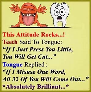 Teeth Vs Tongue Attitude Funny Joke | Funnyho.com | Funny ...