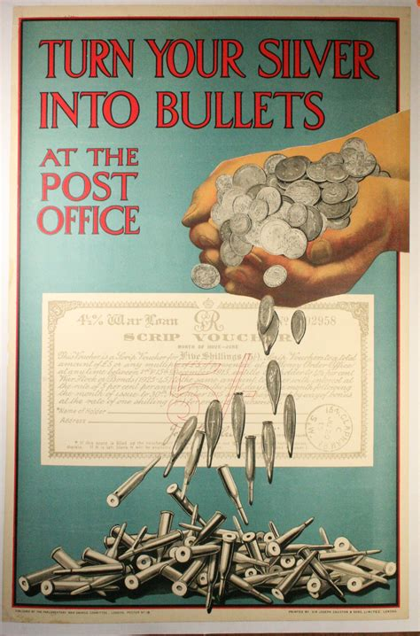 ottoman for sale ww1 savings bond poster turn your silver into bullets