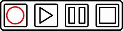 Tape Buttons Clip Outline Deck Control Cassette