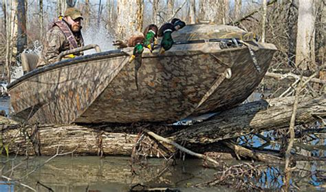 Prodigy Boat Dog Ladder by Top Waterfowl Hunting Boats Wildfowl