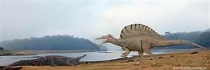 Spinosaurus vs Deinosuchus by SameerPrehistorica on DeviantArt