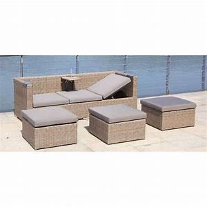 Lounge Sofa Mit Dach : zebra jack loungeset 5tlg geflecht garten freizeit ~ Bigdaddyawards.com Haus und Dekorationen