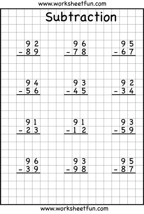 Subtraction Regrouping  Common Core Math  Math, Math Subtraction, Math Worksheets