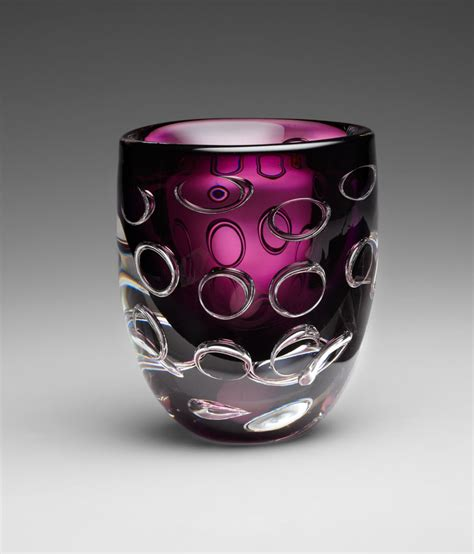 Purple Glass Vase by Purple Glass Vase Purple By Cyan Design