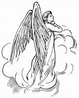 Angel Coloring Guardian Drawings 28kb 875px sketch template