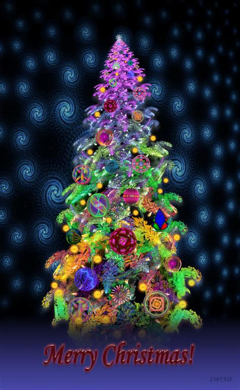 funky snowy christmas tree by 1389ad on deviantart
