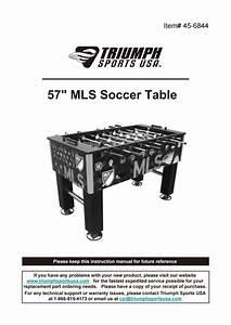 Triumph Corner Kick 57  Major League Soccer Foosball Table