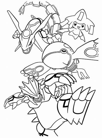 Pokemon Coloring Pages Kyogre Groudon Rayquaza Legendary