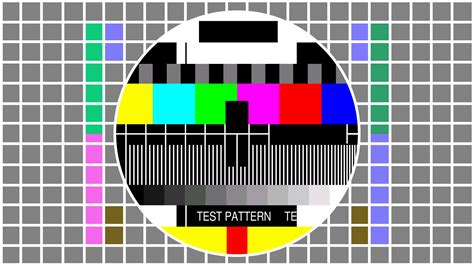 Test Pattern - television screen color test pattern seamless loop