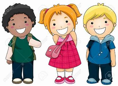 Clipart Students Going Arriving Children Ready Illustration