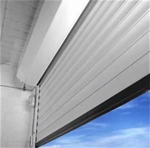 porte de garage enroulable motorisee filaire blanche With porte de garage enroulable de plus porte intérieure isolante