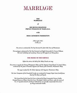 10 Wedding Program Templates To Download For Free Sample