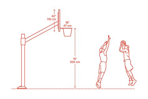 basketball hoop backboard dimensions drawings