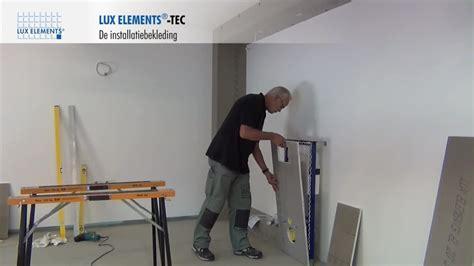 lux elements montage bekleding van systeem