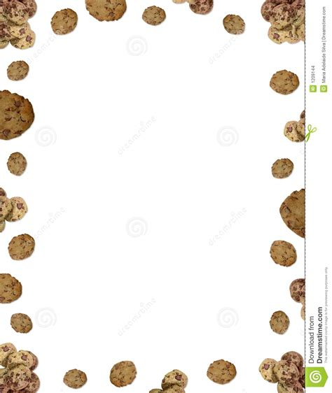 choc chip cookie border stock images image