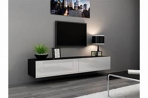 Table Pour Tv : meuble tv mural enzo 180 madely ~ Teatrodelosmanantiales.com Idées de Décoration