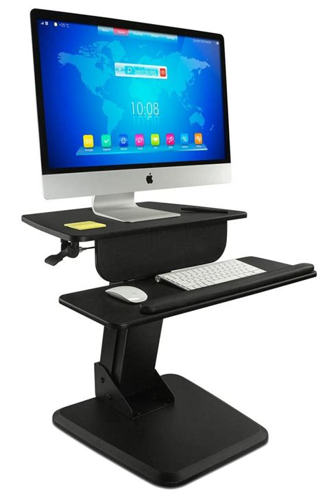 sit stand desk converter the best standing desk converters for tiny desks and