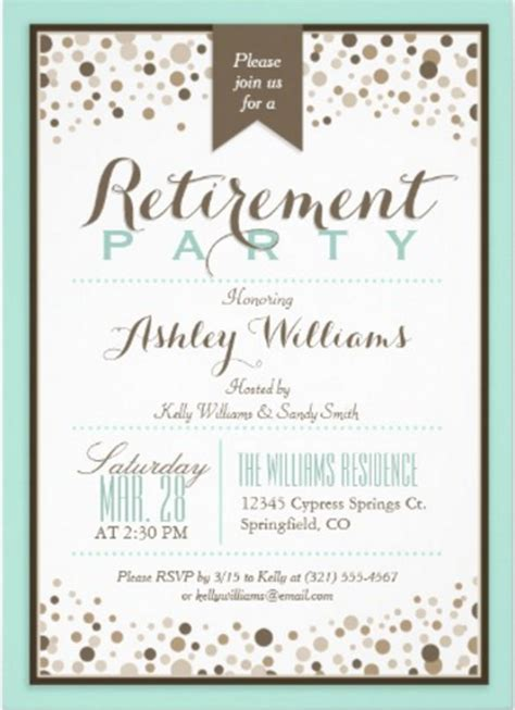 retirement invitation templates psd ai word