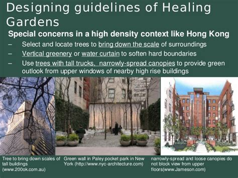 introducing healing gardens into a compact