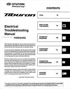 2008 Hyundai Tiburon Electrical Troubleshooting Manual