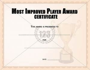 Most improved player award certificates templates for Most improved certificate template
