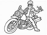 Coloring Pages Motorcycle Printable Chopper sketch template