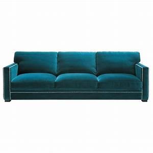 Sofa Samt Blau : sofa 4 5 sitzer aus samt blau dandy maisons du monde ~ Michelbontemps.com Haus und Dekorationen