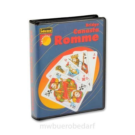 romme karten kaufen bridge canasta romme karten kartenspiel 2 x 55 spielkarten