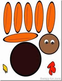 scissor cutting turkey template therapy zone