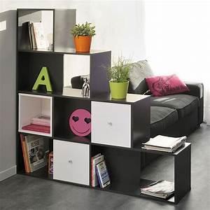 Bibliothèque 4 Cases : biblioth que 9 cases cubes cubo noir ~ Teatrodelosmanantiales.com Idées de Décoration