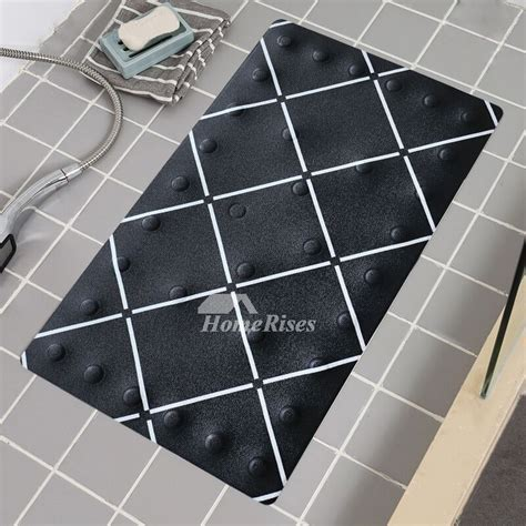 Bath Spa Mat Square PU Floor Non Slip Suction Cup Modern Cheap