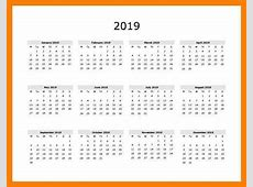 Free Printable Calendar 2019 Templates Download 2019