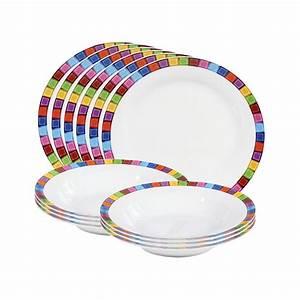 Teller Set Günstig : flirt by michael fischer tafelservice viva porzellan wei bunt 12 teiligvonflirt g nstig ~ Orissabook.com Haus und Dekorationen