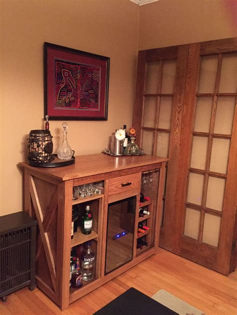 custom wine fridge bar diy   work