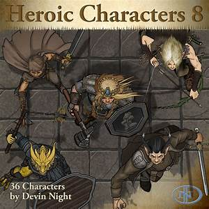 Heroic Characters 8 Token Pack For Fantasy Grounds