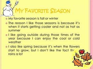 favorite season essay