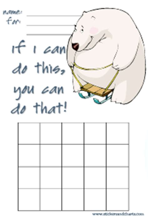 polar bear reward chart templates