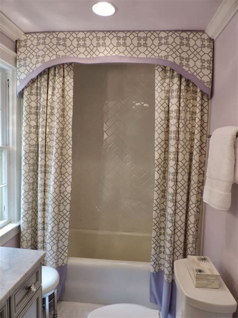 shower curtain with valance drapery pattern testimonials swag fabric shower