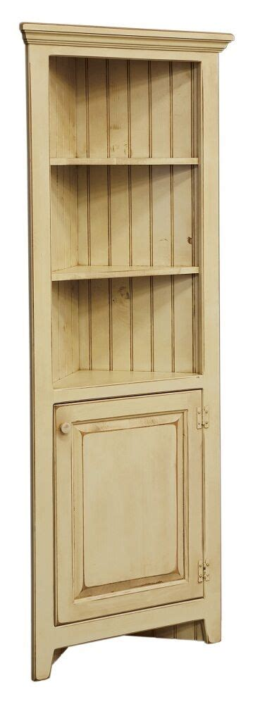 amish corner cabinet pantry hutch bathroom kitchen solid