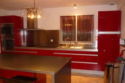 muret de cuisine ébénisterie à muret agencement intérieur bois