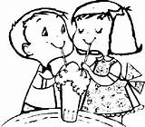 Coloring Sharing Friends Ice Cream Soda sketch template