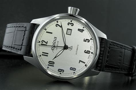 White Dial Alpina Startimer Classic Automatic Swiss