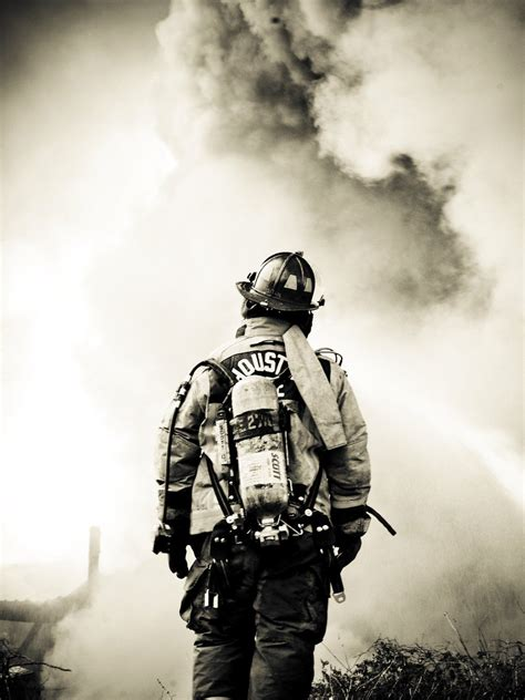 B&W... powerful shot on 'Pictory'... | Firefighter ...