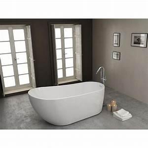 Robinet Baignoire Ilot : baignoire ilot 180 x 70 80 dalia robinet and co baignoire ~ Nature-et-papiers.com Idées de Décoration