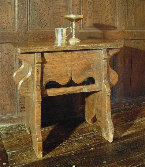 handmade medieval style oak stool middle ages early