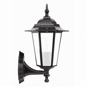 Brilliant 60w nottingham black coach exterior wall light for Outdoor light fixtures bunnings